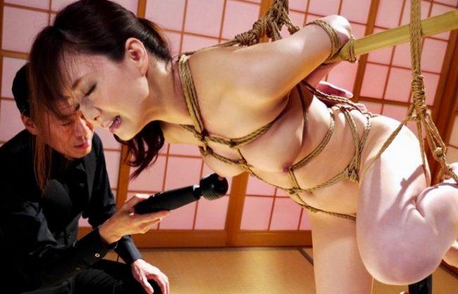 吉沢明歩:正義感の強い弁護士の身体に縄が食い込み姦堕ちwww