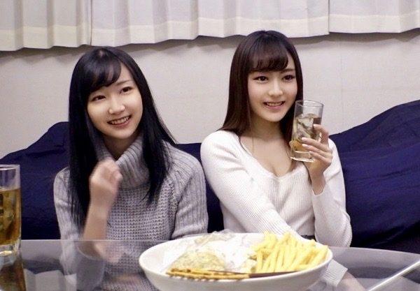 ナンパ:お酒の勢いで`宅飲み`にこぎつければ完全勝利!?女子大生2人組を口説いて即パコ連続嵌めww