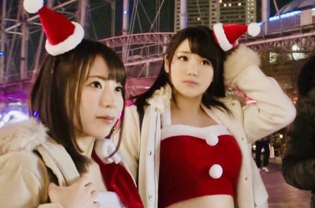 素人ナンパ:トナカイ騎乗位に「あっイぐッ、イっちゃッ…」超美少女なロリ系巨乳サンタをナンパ姦w